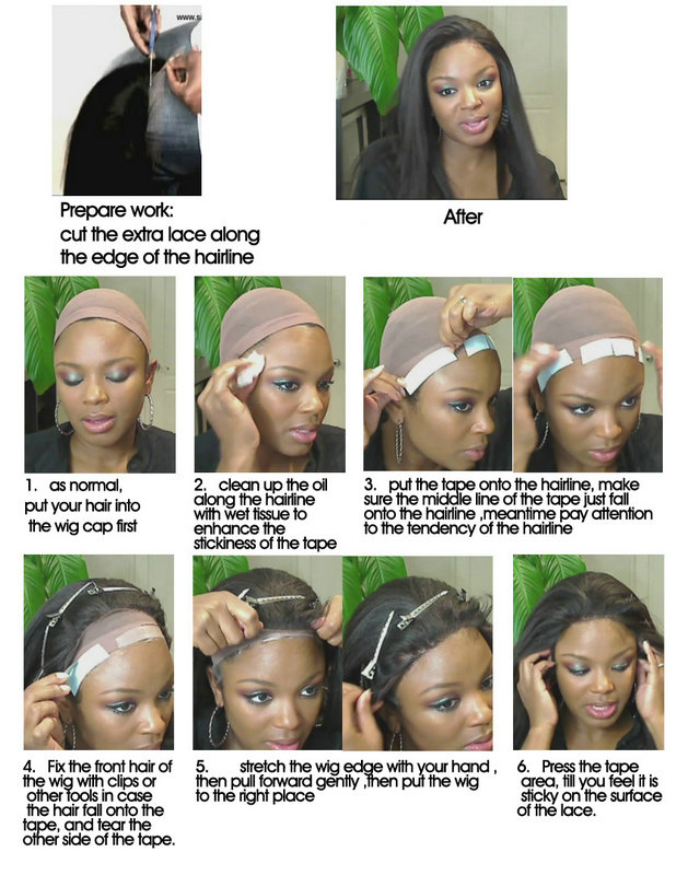 Lace Front Wigs How to Wear